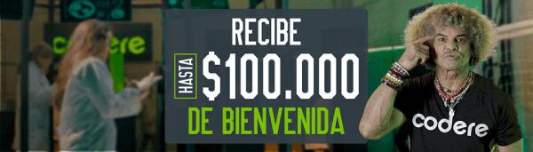 Bono Codere - Código Promocional Codere $100.000 COP