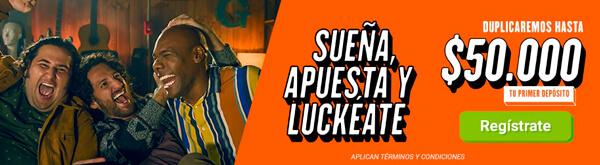Casa de apuestas Colombia Luckia Bono de Bienvenida