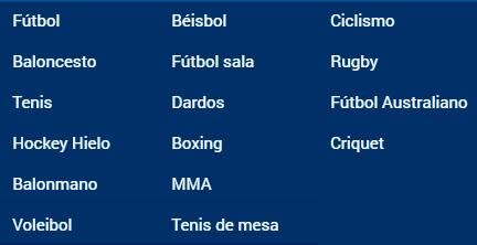 Rivalo deportes disponibles apuestas en Colombia