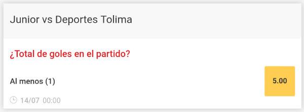 Liga Aguila 2019-II Junior vs Tolima - Supercuota de Zamba