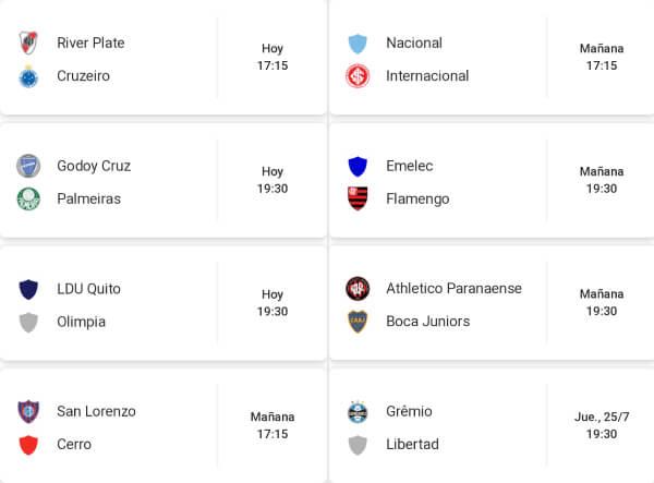 Octavos de final - Copa Libertadores 2019 Casas de apuestas Colombia