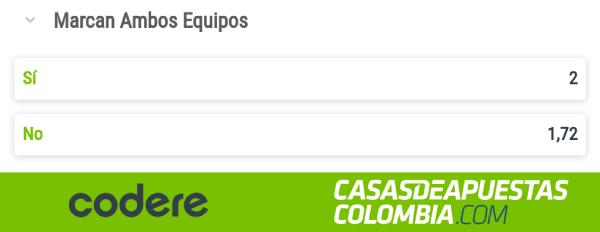 Copa Colombia Millonarios vs Independiente Medellín Codere Apuestas Marcan Ambos