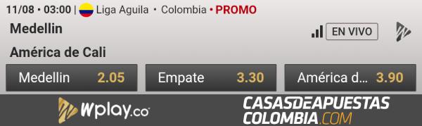 Liga Águila Fecha 5 Independiente Medellín vs América de Cali Wplay Apuestas Colombia