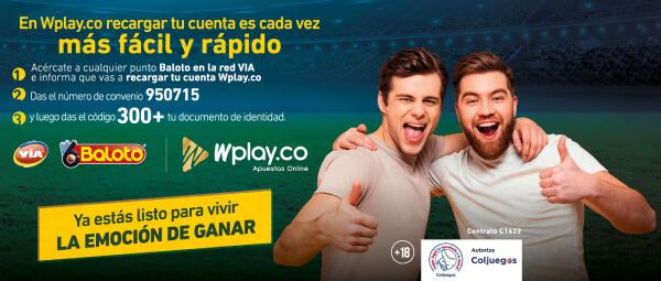 Wplay Apuestas Via Baloto Recarga Pago Colombia