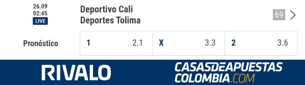 Apuestas Deportivo Cali vs Tolima Apuestas en la Copa Colombia 2019 en Rivalo