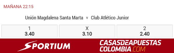 Liga Águila 2019-II Pronóstico Unión Magdalena vs Junior Apuestas Sportium Colombia