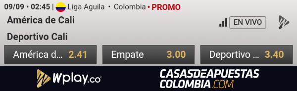 Liga Aguila Fecha 10 - America de Cali vs. Deportivo Cali Apuestas Wplay Colombia