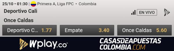 Cuotas de apuestas Deportivo Cali vs. Once Caldas - Liga Águila 2019-II