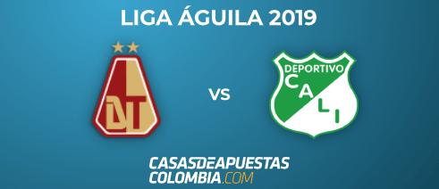 Liga Águila 2019 - Pronóstico Tolima vs Deportivo Cali Apuestas Deportivas