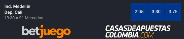 Copa Colombia 2019 - Independiente Medellín vs. Deportivo Cali - Apuestas Deportivas en Betjuego Colombia