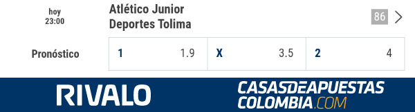 Apuestas Junior vs. Tolima - Liga Águila 2019-II