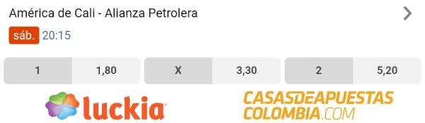 Cuotas de Apuestas - América de Cali vs. Alianza Petrolera - Liga Betplay 25/01/20