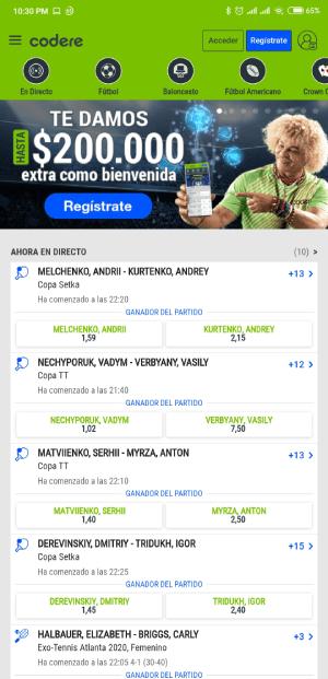 Codere App Imagen