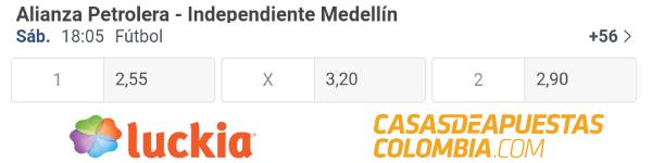 Cuotas de apuestas - Alianza Petrolera vs. Medellín - Liga Betplay 19/09/20