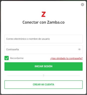 Registro Zamba Colombia - Paso 2