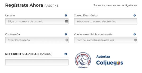 Rushbet Colombia - Reseña de Opinión - Formulario de Registro