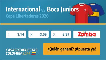 Apuestas Internacional vs. Boca Juniors - Copa Libertadores 02/12/20