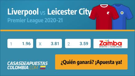 Apuestas Liverpool vs. Leicester City - Premier League 22/11/20