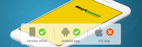 Megapuesta App Android (.apk) e iOS Apple - Banner