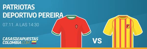 Pronósticos Patriotas vs. Deportivo Pereira - Liga Betplay 06/11/20