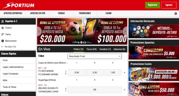 Sportium Colombia - Homepage