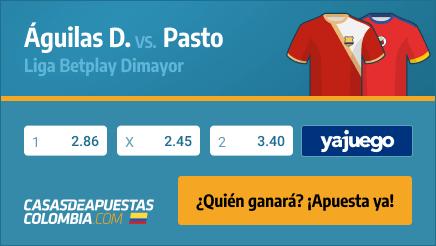 Apuestas Pronósticos Águilas Doradas vs. Pasto - Liga Betplay 09/02/21