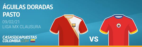 Pronósticos Águilas Doradas vs. Pasto - Liga Betplay 09/02/21