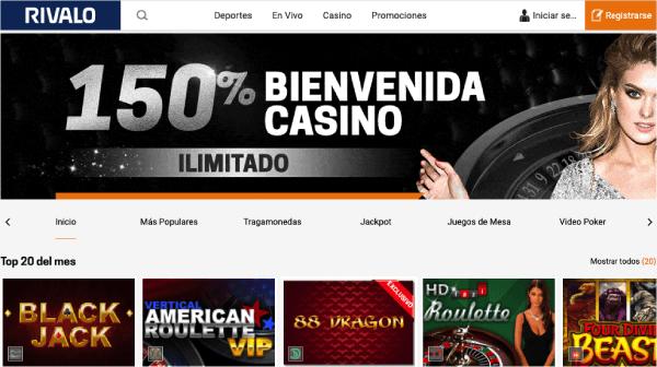 Rivalo Colombia - Casino Bono Bienvenida