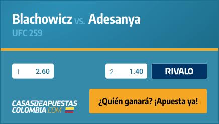 Apuestas Pronósticos Blachowicz vs. Adesanya - UFC 259 06/03/21
