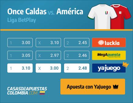 Apuestas Pronósticos Once Caldas vs. América - Liga Betplay 20/03/21