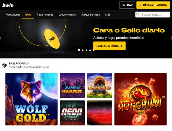 Análisis de Bwin Colombia - Página de Casino