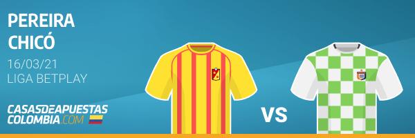 Pronósticos Pereira vs. Chicós - Liga Betplay 16/03/21