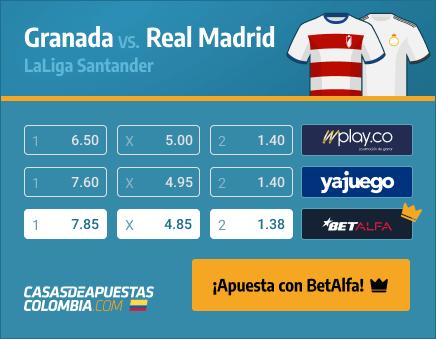 Apuestas Pronósticos Granada vs. Real Madrid - LaLiga 13/05/21