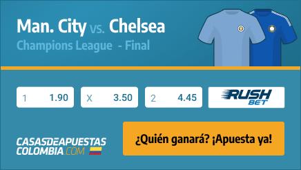 Apuestas Pronósticos Manchester City vs. Chelsea - Champions 29/05/2021