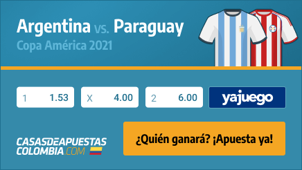 Apuestas Pronósticos Argentina vs. Paraguay - 21/06/21 Copa América 2021