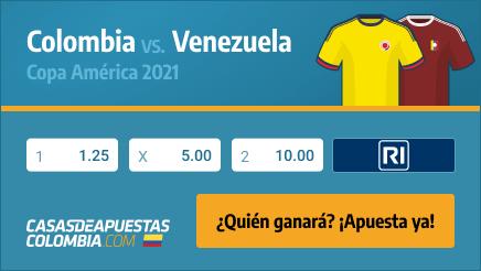 Apuestas Pronósticos Colombia vs. Venezuela - Copa América 2021 17/06/21