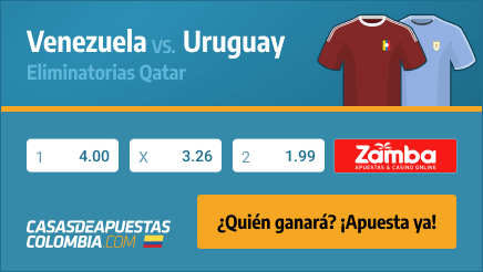 Apuestas Pronósticos Venezuela vs. Uruguay - Eliminatorias Qatar 08/06/21
