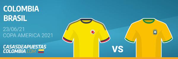 Pronósticos Colombia vs. Brasil - Copa América 2021 23/06/21