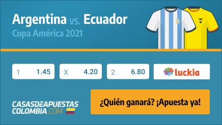 Apuestas Pronósticos Argentina vs. Ecuador - Copa América 2021 03/07/21