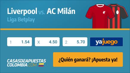 Pronósticos Liverpool vs. AC Milán en la Champions League el 15/09/21 en casasdeapuestas-colombia.com